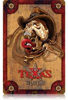 Vintage and Retro Wall Decor - JackandFriends.com - Vintage The Last Stand Texas Metal Sign, $39.97 (http://www.jackandfriends.com/vintage-the-last-stand-texas-metal-sign/)