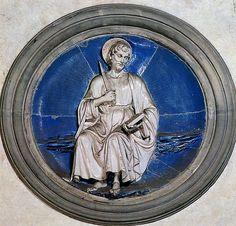 Luca della Robbia - San Taddeo, 1465-1470. Firenze, Santa Croce, Cappella Pazzi