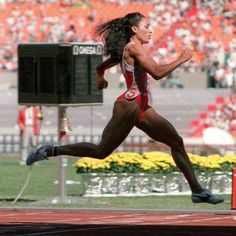 1988, Florence Joyner set the world record sprinting 100 meters in 10.49 seconds.