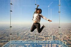 Dream location: Skydeck Willis tower... Brave for sure.