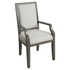 Morris Square Back Dining Chair with Arms - Gray