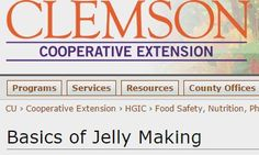 HGIC 3180 Basics of Jelly Making : Extension : Clemson University : South Carolina
