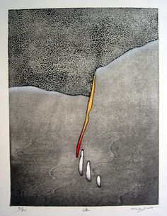 GOTOH,Hidehiko[Hesitation] Abstract Pictures, Art Pictures, Abstract Watercolor, Abstract Art, Contemporary Printmaking, Japanese Art Modern, Deco Paint, Art Chinois, Palette Art