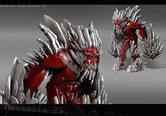 Concept de creature en 3D