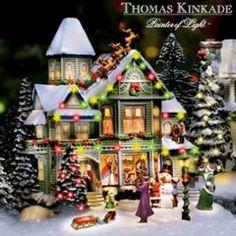 Thomas Kinkade Victorian Christmas Home Village Subscription Plan