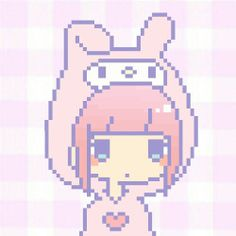 my melody anime pixel
