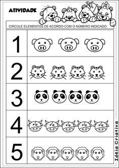 Matemática Infantil: Atividade Matemática Educação Infantil Número e Quantidade