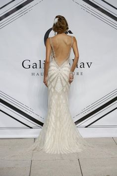 Gatsby / Art Deco inspired wedding dresses // Galia Lahav Autumn / Winter 2015 Collection // Wedding Blog | Confetti Daydreams #flapper #roaringtwenties  // Backless Beaded