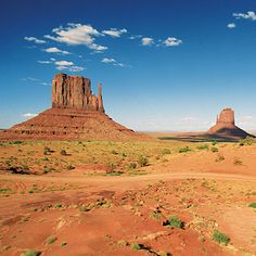Arizona Monument Valley with Left Mitten in the foreground.