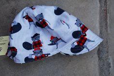 Jockey Cap reversible hat boy sun hat baby boy by eddieandsofia Traditional Fabric, Baby Boy Hats, Fabric Combinations, Ticking Stripe, News Boy Hat, Sun Hats, Make You Smile, 6 Years, Toddler Boys
