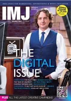 IMJ December 2015 The Marketing, Digital Marketing, Media Magazine, Digital Footprint, Advertising Industry, We Are The Ones, Digital Technology, New Man, Irish