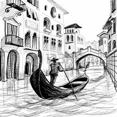drawing of Gondola - Google Search