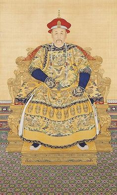Art work of Yongzheng who was the fifth emperor of the Qing Dynasty from 1711 to 1799.