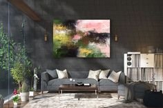 Large Painting on Canvas,Extra Large Painting on Canvas,large art on canvas,large office art,painting wall art FY0053