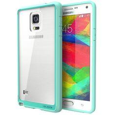 Galaxy Note 4 Case, i-Blason [Scratch Resistant] Clear/Green -  PreOrder!