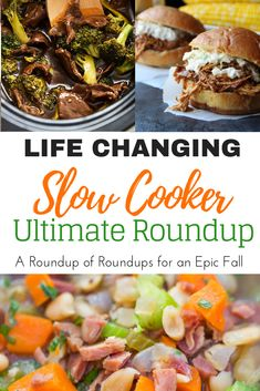slow cooker dinner recipe roundup for your crock pot. so many easy dump and go crockpot recipes to enjoy all fall and winter! Chicken, soup, vegetarian, beef, and more! Healthy Slow Cooker, Slow Cooker Soup, Healthy Crockpot Recipes, Slow Cooker Recipes, Crockpot Meals, Easy Chicken Dinner Recipes, Fall Dinner, Healthy Food Blogs, Clean Eating Recipes