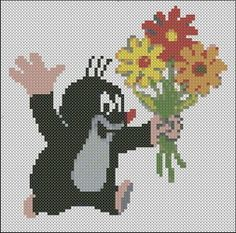 Cross-stitch for Children - Cross-stitch Patterns Beaded Cross Stitch, Cross Stitch Patterns, Loom Beading, Beading Patterns, Knitting Charts, Knitting Patterns, Tapestry Crochet Patterns, Hama Beads Design, Pony Beads