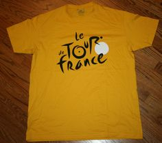 Le Tour De France yellow short-sleeve T-Shirt, Adult X-Large, New cycling #LeTourDeFrance #GraphicTee