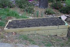 raised bed on a hill side.  Need to do this if I want to expand the garden this year.