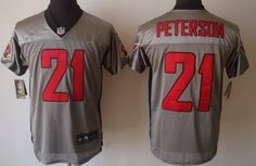 Nike Arizona Cardinals #21 Patrick Peterson Gray Elite Jersey