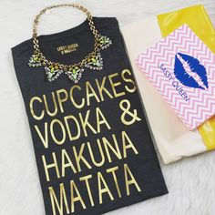 #cupcakes #vodka -&- #hakunamatata   #mystyle #ootd #styleinspiration #style #stylistpic #musthave #shop #etsy  #fashion #fashionstyle #fashionstatement #streetstyle #streetfashion #statementpiece #stylesteals  #fashionblogger  #statement #graphictee