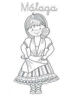 Mi Mundo Infantil: TRAJES TÍPICOS ANDALUCES Cultural Diversity, Coloring Pages, Drawings, Crafts, Ideas Para, Kindergarten, Posters, English, Dolls