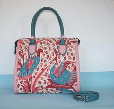 Handpainted Batik Trusmi Cirebon and Pull up cow Leather Bag