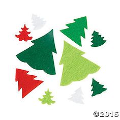 Add to your craft supplies and snag some red and green accents for your DIY crafts! These self-adhesive Christmas Tree shapes can be added to any existing ...