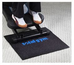 """Durable 20.5"""" x 22"""" rubber mat provides extra stability when using your Total Gym. Prevent slippage during your workout!"""