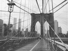Twin Towers from Brooklyn Bridge by Sweetmango on @creativemarket brooklyn bridge, twin towers, wtc, original wtc, tridents, nyc manhattan pre 911 terror before the towers fell Minoru Yamasaki architect t. bw photograph
