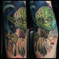 It ain't easy being green! Did this little dude on my friend Tom today. In the ditch and inner arm no less!  #starwars #starwarstattoos #yoda #epicink #geeksterinklegends #geeksterink #nerdytattoos #tattoos #tattoo #guyswithtattoos #girlwithtattoos @egoproteam @oneinkseven @mathandsciencelab