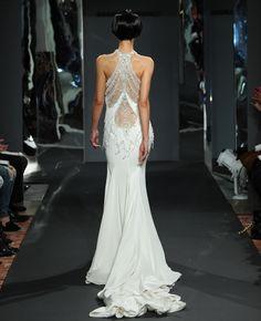 Mark Zunino Wedding Dress//Photo by Kurt Wilberding//The Knot | gorgeous back detail | wedding dress detail