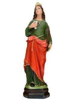 Statua S. Lucia cm. 40 altezza cm. 40 in gesso disponibile anche in resina dipinta con colori acrilici La statua di Santa Lucia è disponibile al seguente link http://www.ovunqueproteggimi.com/collezione-statue/sante/lucia/