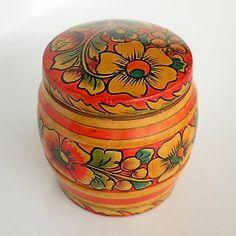 "4""H Vintage Old Small Wooden Box Matryoshka Decoration Russian Soviet USSR   eBay"