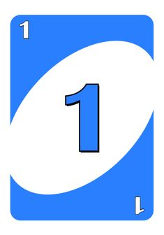 uno cards number 1 blue - Google Search Uno Cards, Kids Cards, Custom Decks, Number Two, Card Games, Letters, Blue, Google Search, Projects