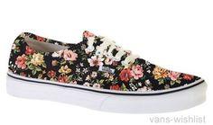 vans skor blommiga