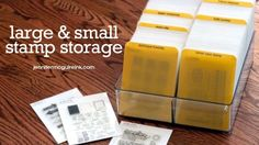 Video: Small & Large Clear Stamp Storage   Jennifer McGuire Ink