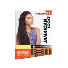 "Tue Mar 22, 2016 - #7: African Collection Jamaican Locks 44"" - Color SOM4/30 - Synthetic Braiding"