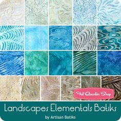 Landscapes Elementals Batiks Fat Quarter Bundle Artisan Batiks for Robert Kaufman Fabrics