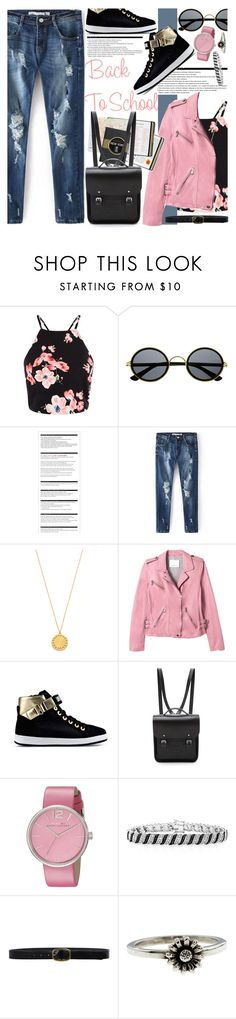 """Back To School"" by oshint ❤ liked on Polyvore featuring Retrò, Arche, Gorjana, Rebecca Taylor, Love Moschino, The Cambridge Satchel Company, Marc by Marc Jacobs, Linea Pelle and Metal Couture"