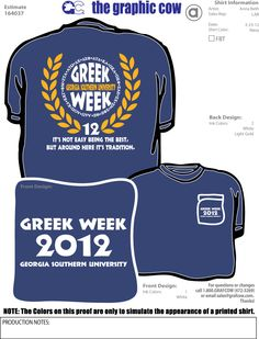 greek week tshirts - Google Search