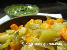 Recette : côte de blette et carotte à la poêle