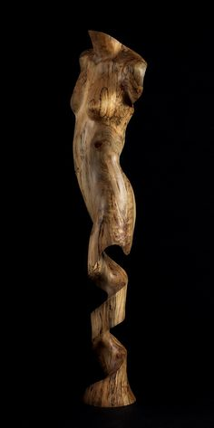 Achelois wood sculpture by Chad Awalt