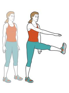 Give your #workout a strong, dynamic start with these standing kicks. #exercise