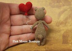 Crochet Bear Pattern Amigurumi Bear Miniature by PinkMouseBoutique