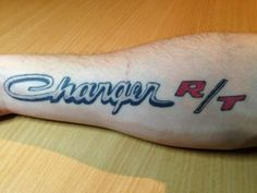 Dodge Charger R/T tattoo