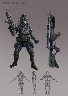 Infantry soldier by DinoDrawing.deviantart.com on @DeviantArt