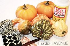 Guest Project -- Make Mod Podge Pumpkins AND a surprise!! -- Tatertots and Jello