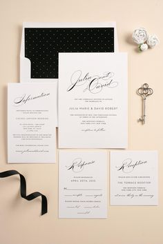Black and Blush Wedding Invitations | The Vintage Glam Stationery Suite by Shine Wedding Invitations - http://www.shineweddinginvitations.com/wedding-invitations/vintage-glam-wedding-invitations