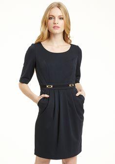 TAHARI ARTHUR S. LEVINE Petite Elbow-Sleeve Scuba Dress